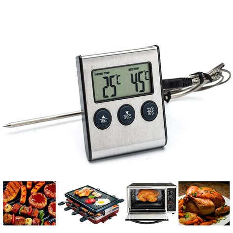 Digital Food Thermometer For Kitchen Cooking Bbq Tp600 electric digital food bbq barbecue thermometer timer for