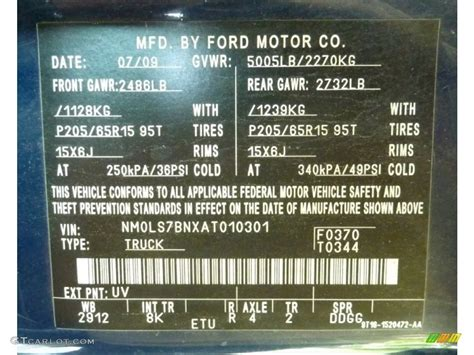 2010 ford transit connect xlt cargo color code photos gtcarlot