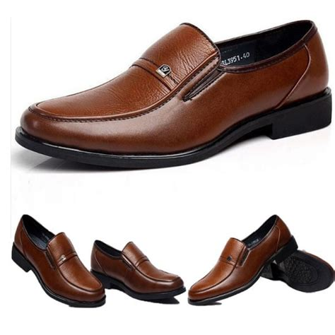 business loafers buy mens brown oxford shoes genuine leather work business