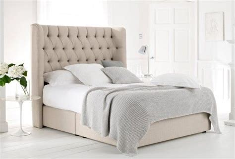 beige quilted headboard bedframe bed