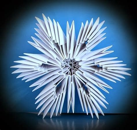 3d Snowflake Origami - origami maniacs 3d origami snowflakes
