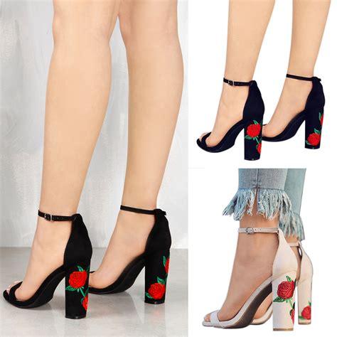 High Heel Fashion Flower Printed 2017 fashion printed flower high heel sandals summer shoes alex nld