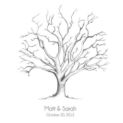 printable wedding fingerprint tree guestbook pdf