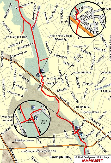 maryland bicycle map hoco connect rock creek bike trail from lake needwood in