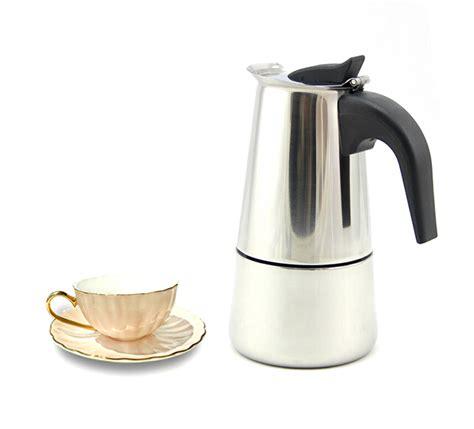 Percolator Espresso Coffee Maker Teko Kopi Moka Pot Stainless 6 Cup Portable Stainless Steel Moka Latte Espresso Coffee Maker Pot Percolator Stove Top Coffee