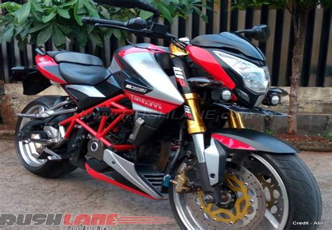 indonesia this modified bajaj pulsar 200 ns scrambler induces serious modified bajaj pulsar 200 ns adopts aprilia inspired livery