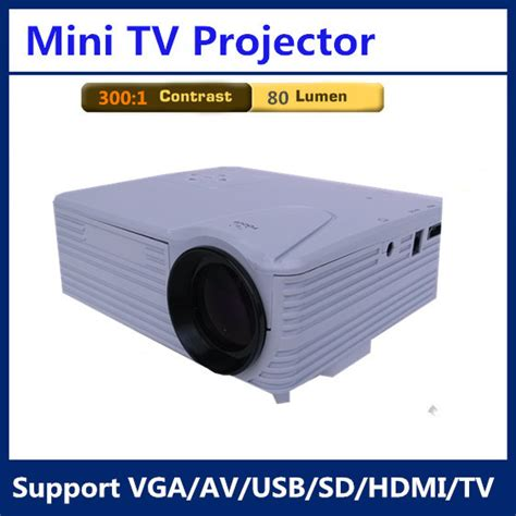 Lods Mini Projector Led H100tv h100tv mini hd portable projector high definition led projector tv 80 lumen 300 1 contrast pico