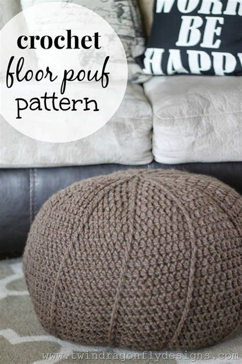 crochet pouf ottoman pattern free crochet projects floors and patterns on pinterest