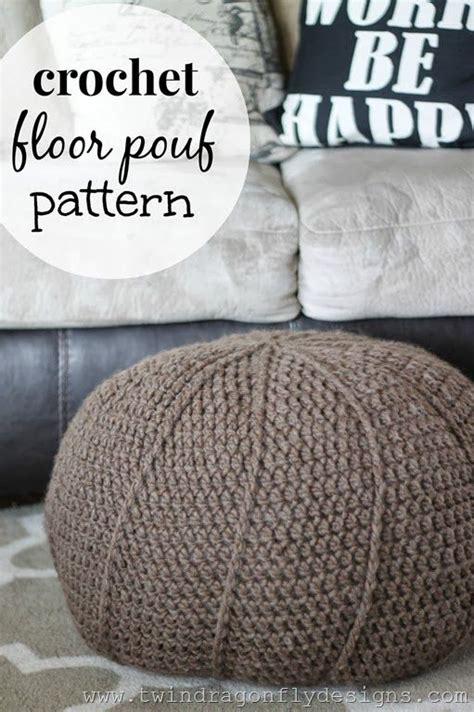 Crochet Pouf Ottoman Pattern Free Crochet Projects Floors And Patterns On
