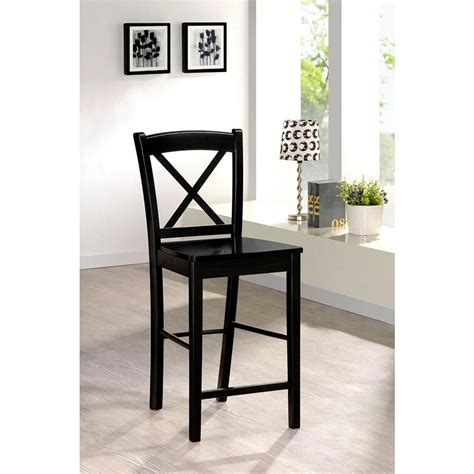 Linon 24 In Stool by Linon Home Decor X Back 24 In Black Bar Stool 01709blk 01