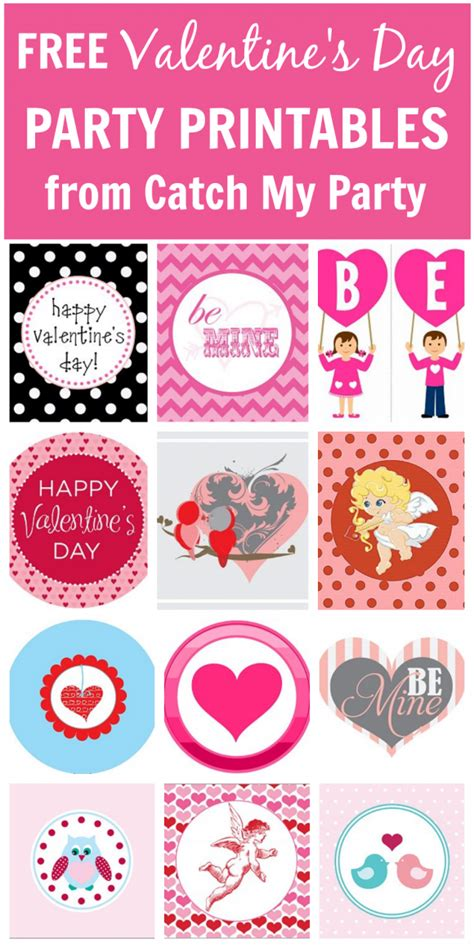 free printable valentine party decorations must see valentine s day crafts party ideas catch my party