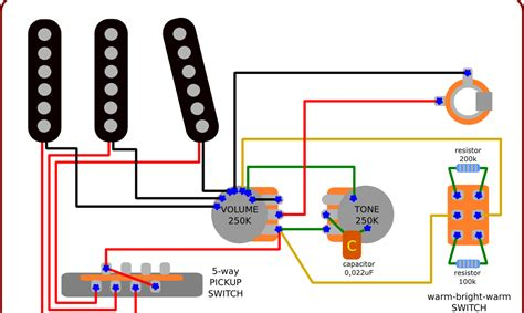 resistors guitar tone the guitar wiring diagrams and tips wiring diagram for stratocaster with a warm bright