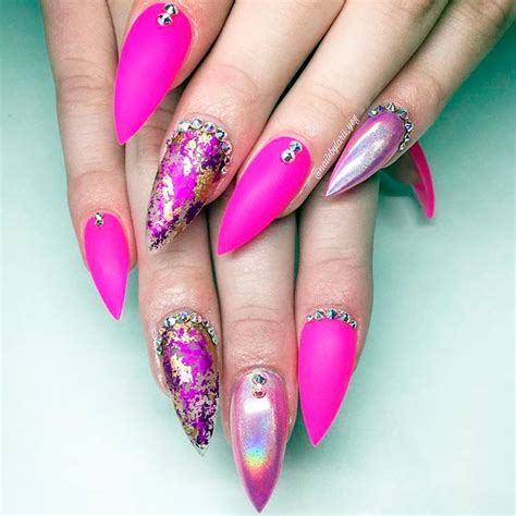 cute stiletto nail designs 21 trendy and cute stiletto nails designs