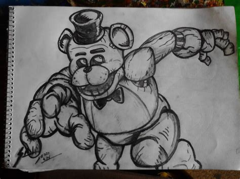 Fnaf 1 Sketches by Cool Freddy Drawings Pictures To Pin On Pinsdaddy