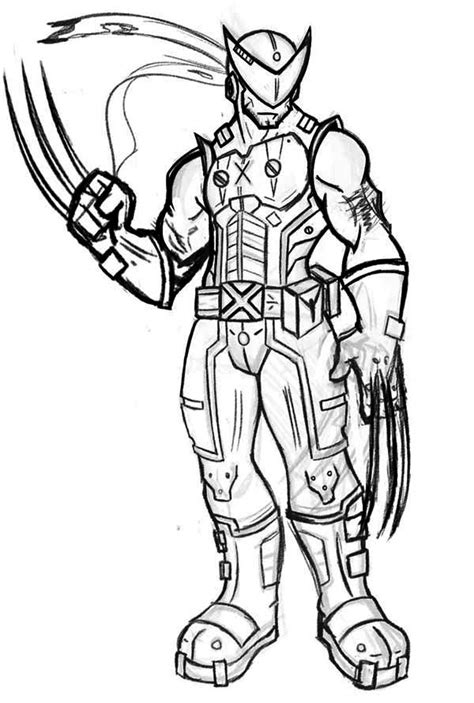 wolverine coloring pages wolverine coloring pages to and print for free