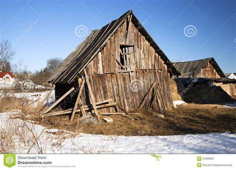 broken shed stock image image  hopelessness