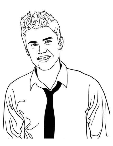 coloring page justin bieber justin bieber 40 printable coloring pages