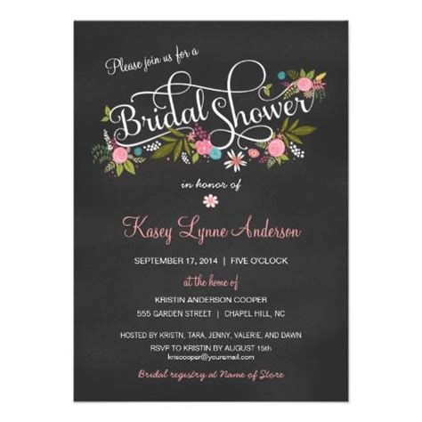 Chalkboard Bridal Shower Invitations by Discover And Save Creative Ideas