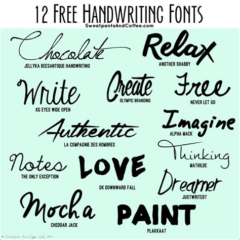 typography experiments creative lifestyles 12 free handwriting fonts