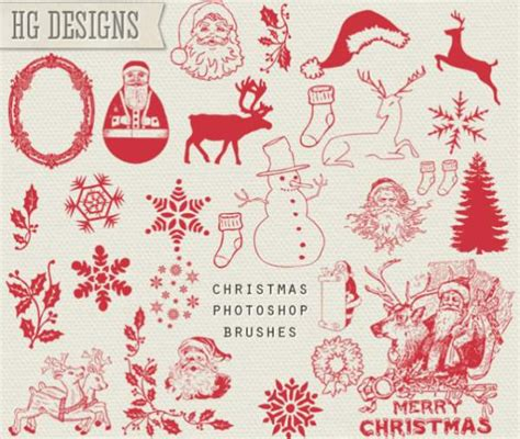 christmas pattern brushes photoshop 10 christmas photoshop freebies
