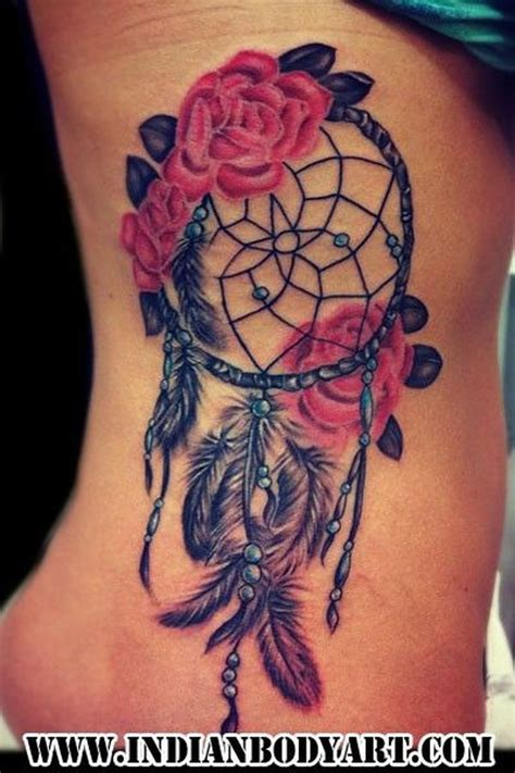 dreamcatcher with roses tattoo 60 dreamcatcher designs 2017
