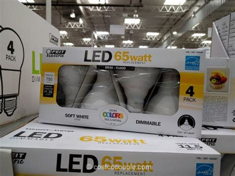 costco led light bulbs feit electric br30 dimmable led bulb