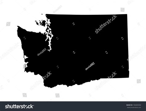 washington state vector map isolated  stock vector