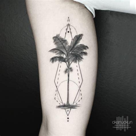 geometric tattoo palm geometric palm tree on the inner arm tattoo artist okan