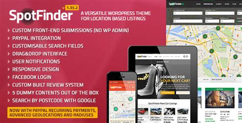 themeforest listing spotfinder themeforest versatile directory and listings