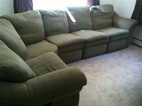 lazy boy sectional recliner large lazy boy sectional w 2 recliners gone free