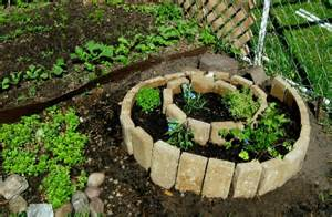 planting my herb spiral and patio garden
