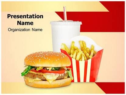 Fast Food Mcdonalds Powerpoint Template Background Subscriptiontemplates Com Fast Food Powerpoint Template