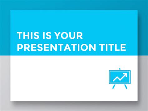 free presentation template clean and simple design for