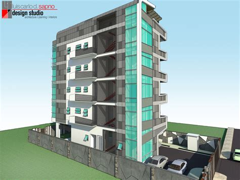 A Proposed Architectural Design Of A Five Storey Architectural Plans Residential Buildings