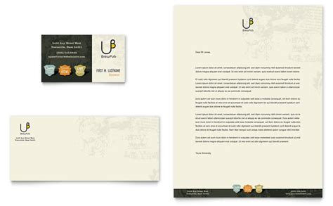 Shelter Insurance Letterhead Brewery Brew Pub Business Card Letterhead Template Design