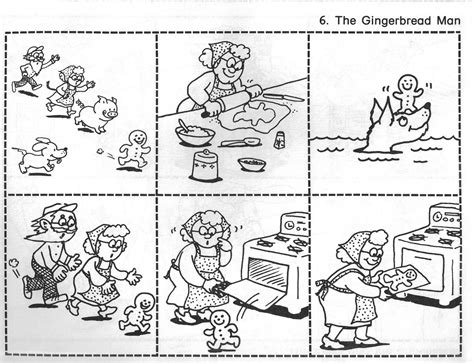 printable version gingerbread man story the gingerbread man ginger bread storyboard and