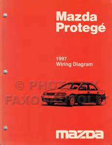 1997 mazda protege repair shop manual original