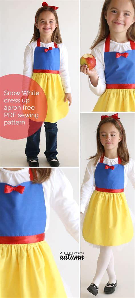 snow white pattern free free sewing pattern for snow white princess dress up apron
