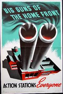 big guns of the home front ww2 canadian poster