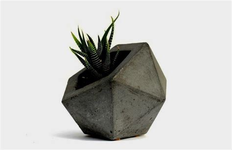 pots for plants 8 handmade minimalist concrete creations for sale on etsy