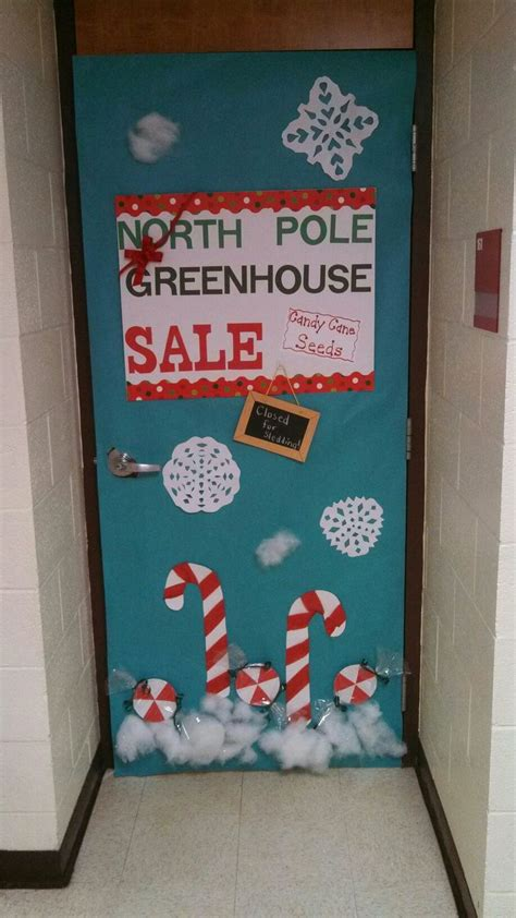 north pole greenhouse sale candy cane seeds door
