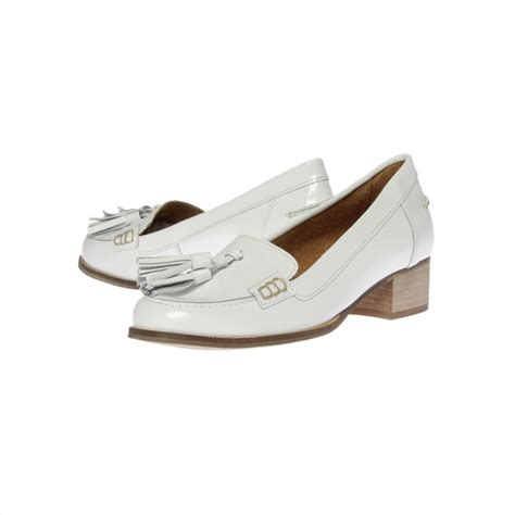 white loafer shoes for carvela kurt geiger lexie loafer shoes in white lyst