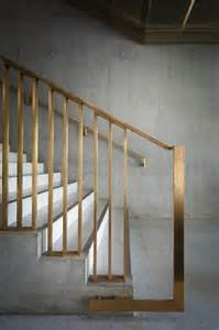 Banister Balustrade Brass Handrail Modern Entrance Foyer