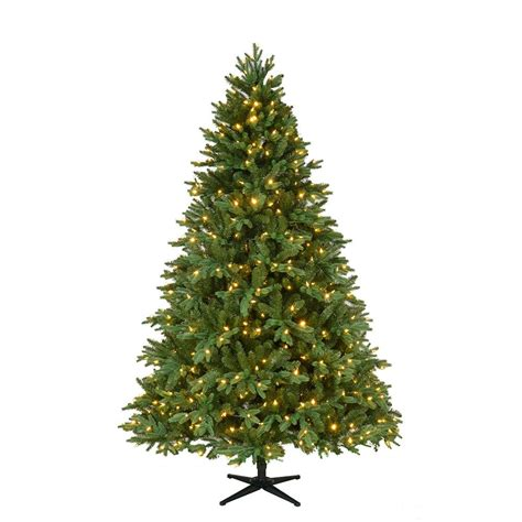 home accents holiday 75 frasier fir home accents 7 5 ft pre lit led harrison fir artificial tree with 550 color