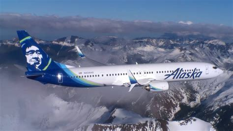 alaska airlines air to air footage washington