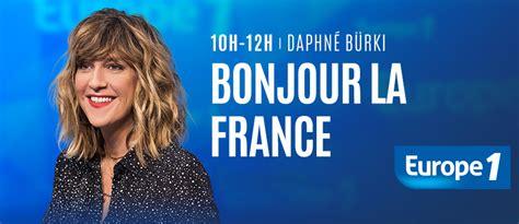 daphne burki a la radio emission t 233 l 233 la nouvelle image bonjour la france