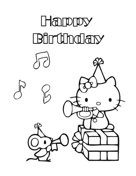 happy birthday cat coloring page top 30 hello kitty coloring pages to print