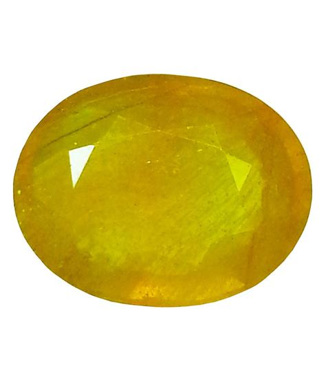 white carbon jewellery certified yellow sapphire 9 42ct oval buy white carbon
