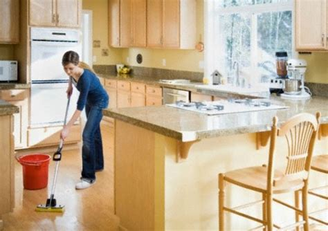 kitchen floor cleaning interior design ideas