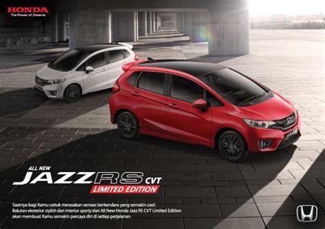 all new honda jazz rs cvt limited edition dealer mobil